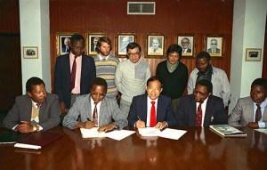 Signing MOU in Tanzania