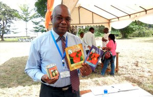 Abdou Tenkouano with some of the superior vegetable seed selected for testing in the project's Best Practice Hubs.
