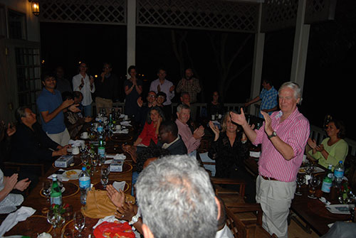 Genebank managers in a lively international sing-a-long.