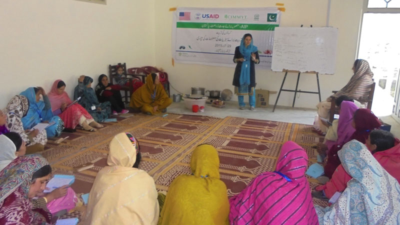 Syeda Mashal addressed the participants.