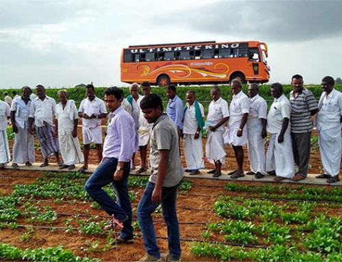 Farmers visit WorldVeg South Asia